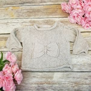 GAP Cable Knit Bow Accented Sweater Girls 12 month